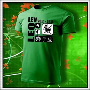Znamenie Lev - trávovozelené