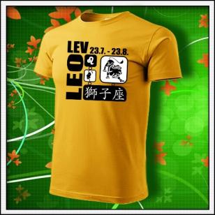 Znamenie Lev - žlté