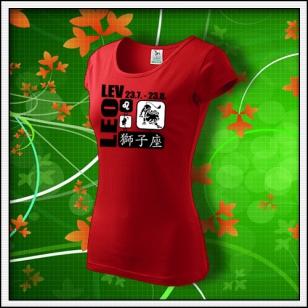 Znamenie Lev - dámske červené