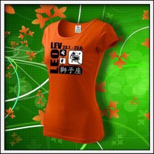 Znamenie Lev - dámske oranžové