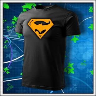 Super Batman - unisex s oranžovou neónovou potlačou
