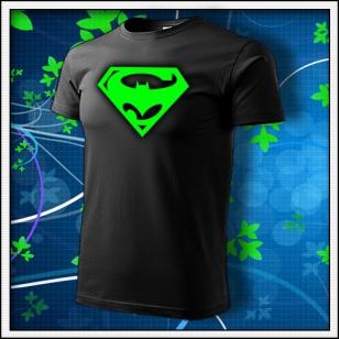 Super Batman - unisex so zelenou neónovou potlačou