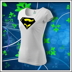 Super Batman - dámske biele
