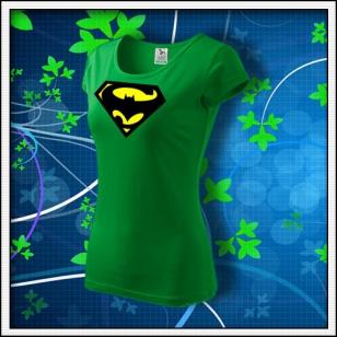 Super Batman - dámske trávovozelené