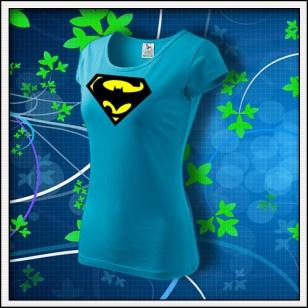 Super Batman - dámske tyrkysové