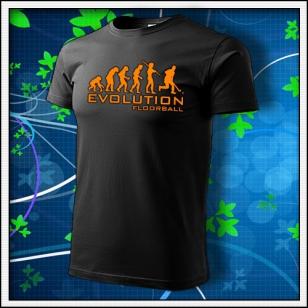 Evolution Floorball - unisex s oranžovou neónovou potlačou