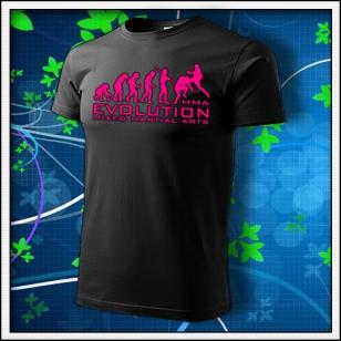 Evolution MMA - unisex tričko s ružovou neónovou potlačou
