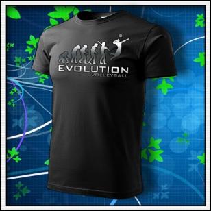 Evolution Volleyball - unisex tričko reflexná potlač