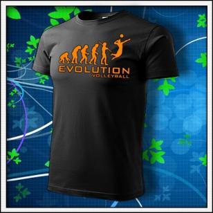 Evolution Volleyball - unisex s oranžovou neónovou potlačou