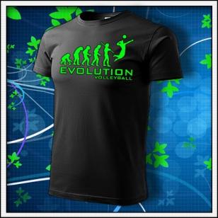 Evolution Volleyball - unisex so zelenou neónovou potlačou