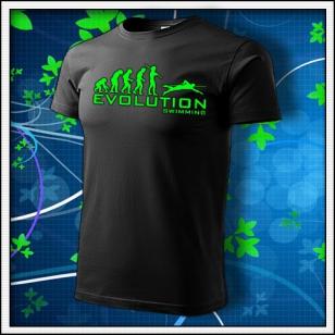 Evolution Swimming - unisex so zelenou neónovou potlačou