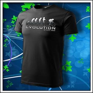 Evolution Cycling - unisex tričko reflexná potlač
