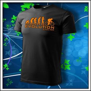 Evolution Cycling - unisex s oranžovou neónovou potlačou