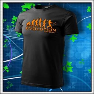 Evolution Baseball - unisex s oranžovou neónovou potlačou