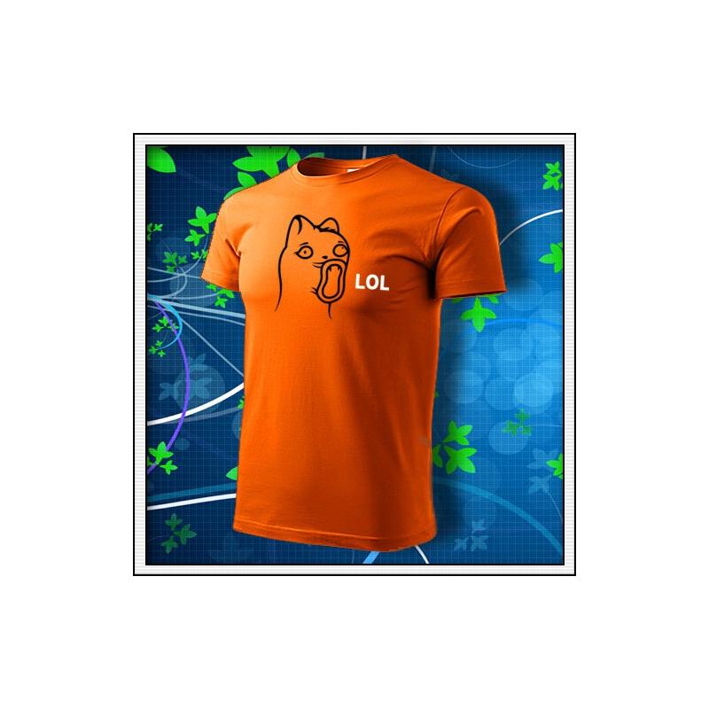 Meme Cat Lol - oranžové