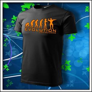 Evolution Bodybuilding - unisex s oranžovou neónovou potlačou