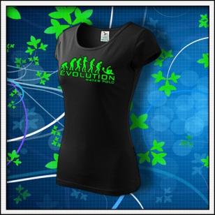 Evolution Water Polo - dámske tričko so zelenou neónovou potlačou