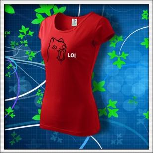Meme Cat Lol - dámske červené