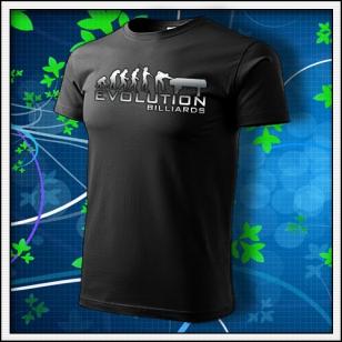 Evolution Billiards - unisex tričko reflexná potlač