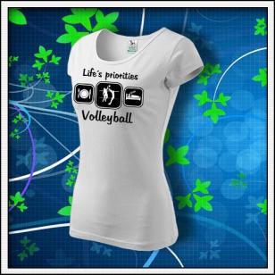 Life´s priorities - Volleyball - dámske biele