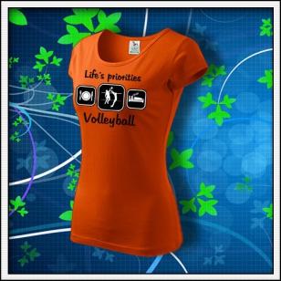Life´s priorities - Volleyball - dámske oranžové