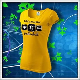 Life´s priorities - Volleyball - dámske žlté