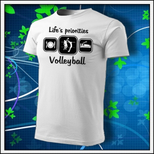 Life´s priorities - Volleyball - biele