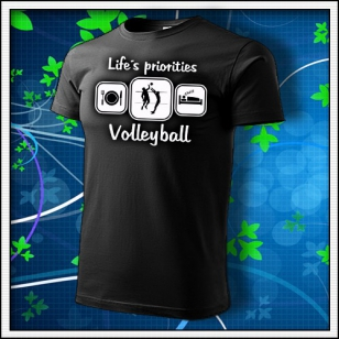 Life´s priorities - Volleyball - čierne