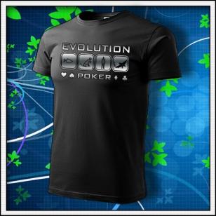 Evolution Poker - unisex tričko reflexná potlač