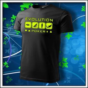 Evolution Poker - unisex so žltou neónovou potlačou