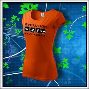 Evolution Poker - dámske oranžové