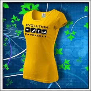 Evolution Poker - dámske žlté