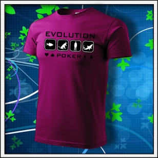 Evolution Poker - fuchsia red