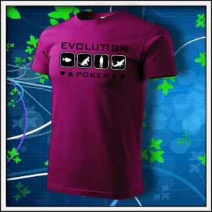 Evolution Poker - fuchsia red