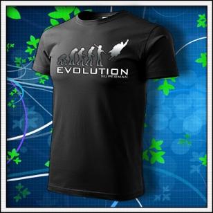 Evolution Superman - unisex tričko reflexná potlač