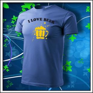 I Love Beer - svetlomodré