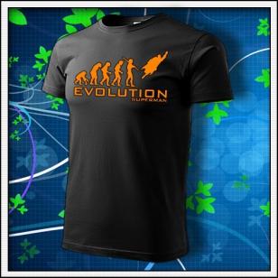 Evolution Superman - unisex s oranžovou neónovou potlačou