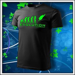 Evolution Superman - unisex so zelenou neónovou potlačou