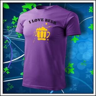 I Love Beer - fialové