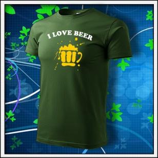 I Love Beer - fľaškovozelené