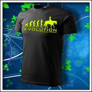 Evolution Horseback Riding - unisex so žltou neónovou potlačou