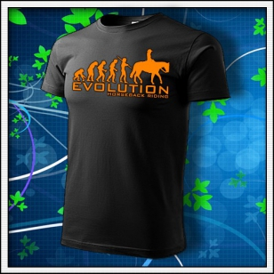 Evolution Horseback Riding - unisex s oranžovou neónovou potlačou