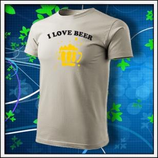I Love Beer - ľadovosivé