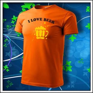I Love Beer - oranžové