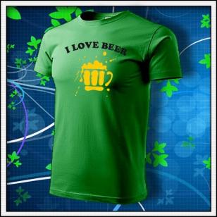 I Love Beer - trávovozelené