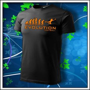 Evolution Football - unisex s oranžovou neónovou potlačou