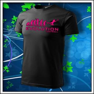 Evolution Football - unisex s ružovou neónovou potlačou
