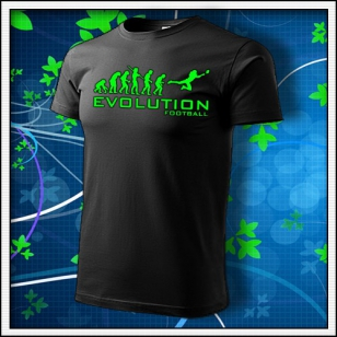 Evolution Football - unisex so zelenou neónovou potlačou