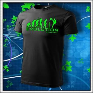 Evolution Nohejbal - unisex so zelenou neónovou potlačou