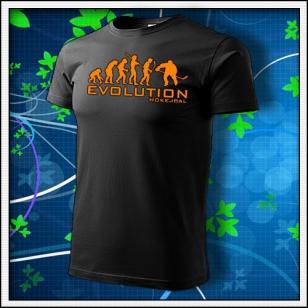 Evolution Hokejbal - unisex s oranžovou neónovou potlačou